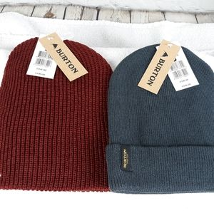 Men's Burton beanies lot of 2